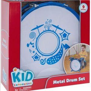 Kid Connection Metal Drum Set